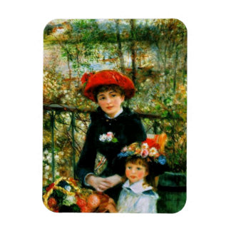 Two Sisters On the Terrace by Renoir Rectangular Photo Magnet