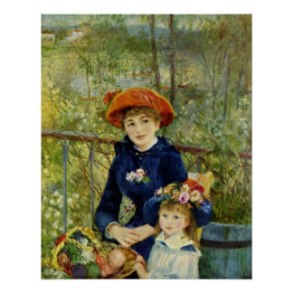 Two Sisters on the Terrace Poster