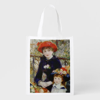 Two Sisters, or On The Terrace, 1881 2 Reusable Grocery Bag