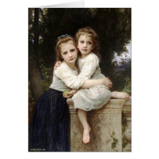 Two Sisters Vintage Fine Art by Bouguereau Card