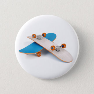 Two skateboards 2 inch round button