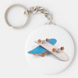 Two skateboards keychain