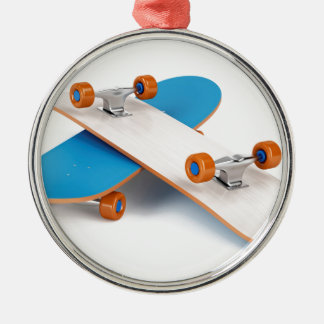 Two skateboards metal ornament