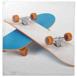Two skateboards napkin