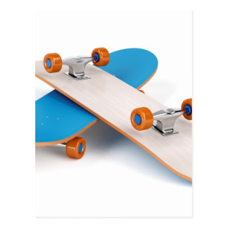 Two skateboards postcard