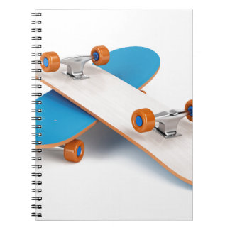 Two skateboards spiral notebook