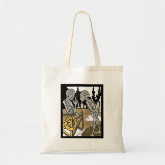 Two Skeletons Trick or Treat tote Tote Bags