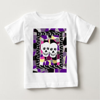 Two Skulls and Stained Glass Baby T-Shirt
