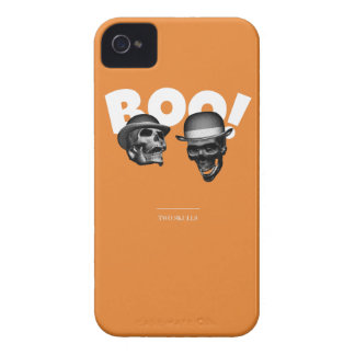 Two Skulls Boo! iPhone 4 Case-Mate Cases