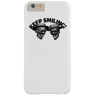 Two Skulls' Keep Smiling Barely There iPhone 6 Plus Case