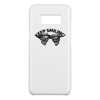Two Skulls' Keep Smiling Case-Mate Samsung Galaxy S8 Case