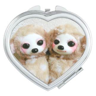 Two small deer mirror for makeup