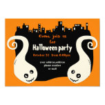 "Two smiling ghosts Halloween invitation card 5"" X 7"" Invitation Card"
