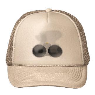 Two smoking barrels. trucker hat