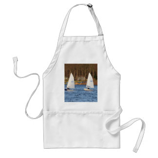 Two Solo Sailing Dinghies Aprons