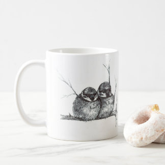 Two sparrows coffee mug