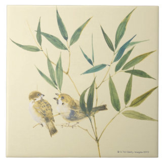 Two Sparrows Tile