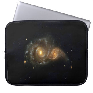 Two Spiral Galaxies Collide Neoprene Sleeve 15""
