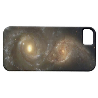 Two Spiral Galaxies Colliding on iPhone 5 Case