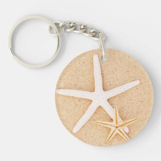 Two Starfish Acrylic Keychain