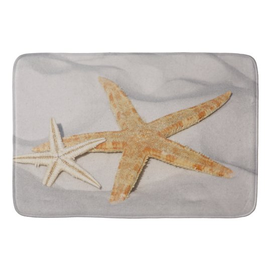 Two Starfish in the Sand Large Bath Mat