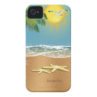 Two Starfish On The Beach iPhone 4 Case