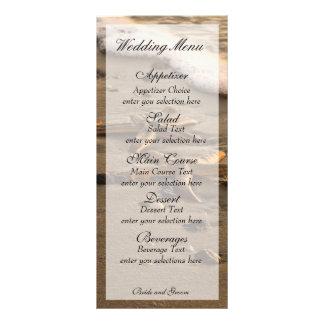 Two stars coastal menu card