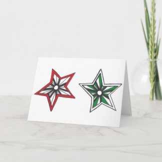 Two Stars Holiday Card