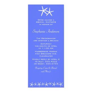 Two Stars Shower Invitations, Delphinium Card