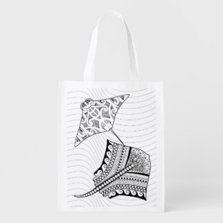 Two Stingrays Adult Coloring Bag