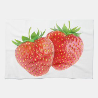 Two strawberries towel