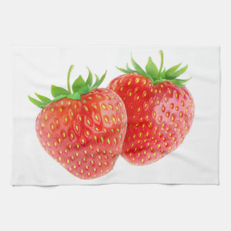 Two strawberries towels