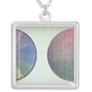 Two studies of cross and longitudinal section silver plated necklace