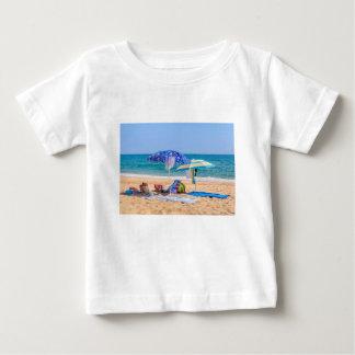 Two sun umbrellas and beach supplies at sea.JPG Baby T-Shirt