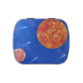 two suns blue background spacepainting