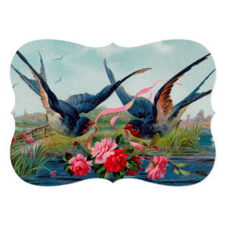Two Swallows Card