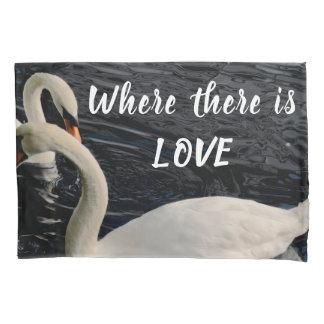 Two Swans on Lake Pillowcase
