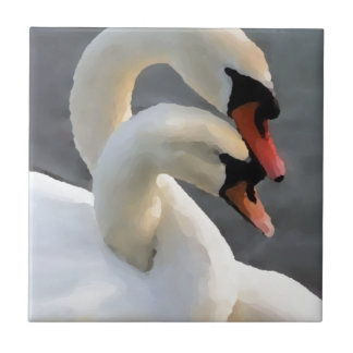 Two Swans Tile