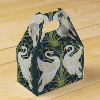 Two Swans Vintage Nouveau Birds Favor Box