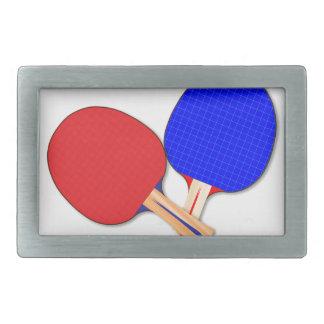 Two Table Tennis Bats Belt Buckles