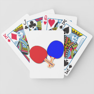 Two Table Tennis Bats Bicycle Playing Cards
