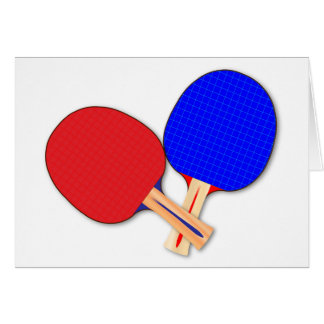 Two Table Tennis Bats Card