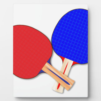 Two Table Tennis Bats Plaque
