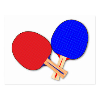 Two Table Tennis Bats Postcard