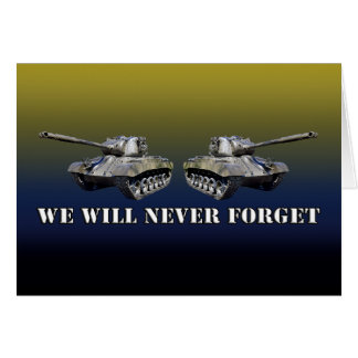 Two Tanks Never Forget - Horizontal Card