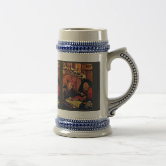 Two Tax Collectors By Reymerswaele Marinus Claesz. Beer Stein