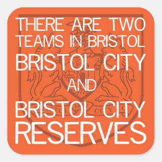 Two Teams in Bristol..stickers Square Sticker