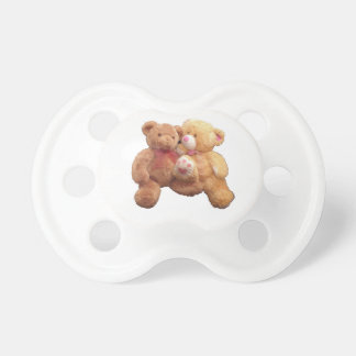 """Two Teddies In Love"" BooginHead® Custom Pacifier"