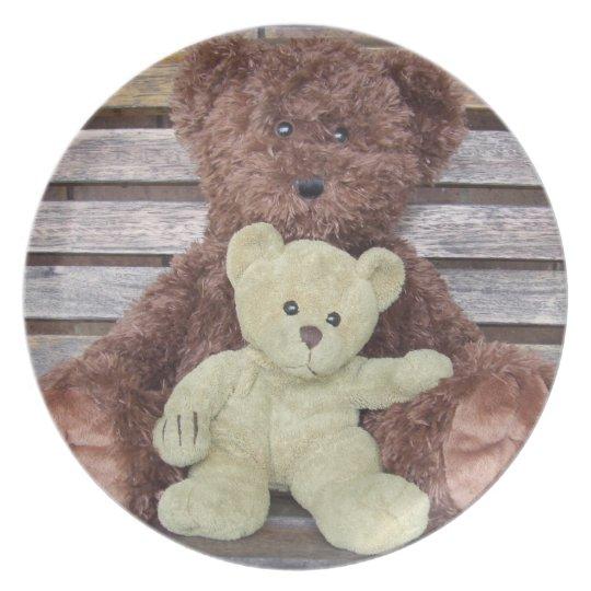 TWO TEDDIES PLATE