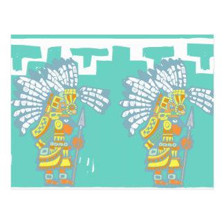 Two Teotihuacan Warriors #1 Postcard